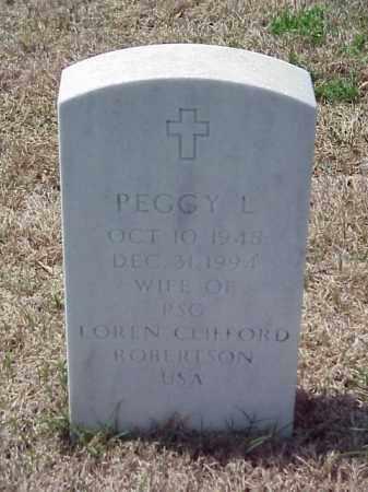ROBERTSON, PEGGY L - Pulaski County, Arkansas | PEGGY L ROBERTSON - Arkansas Gravestone Photos