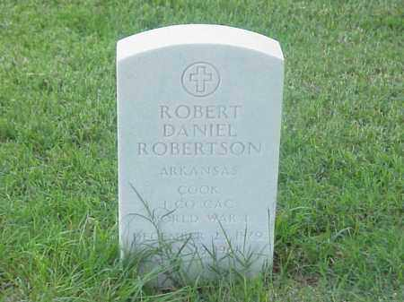 ROBERTSON (VETERAN WWI), ROBERT DANIEL - Pulaski County, Arkansas | ROBERT DANIEL ROBERTSON (VETERAN WWI) - Arkansas Gravestone Photos