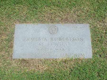 ROBERTSON (VETERAN WWII), JAMES A - Pulaski County, Arkansas | JAMES A ROBERTSON (VETERAN WWII) - Arkansas Gravestone Photos