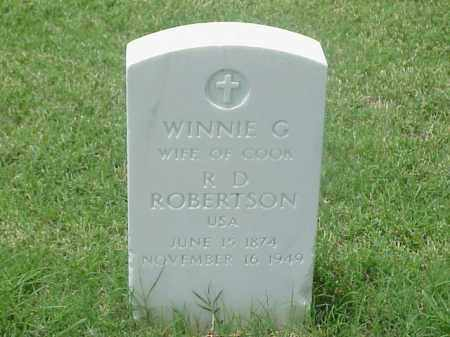 ROBERTSON, WINNIE G - Pulaski County, Arkansas | WINNIE G ROBERTSON - Arkansas Gravestone Photos
