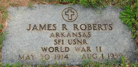 ROBERTS (VETERAN WWII), JAMES R - Pulaski County, Arkansas | JAMES R ROBERTS (VETERAN WWII) - Arkansas Gravestone Photos