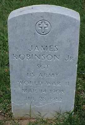 ROBINSON JR (VETERAN WWII), JAMES - Pulaski County, Arkansas | JAMES ROBINSON JR (VETERAN WWII) - Arkansas Gravestone Photos