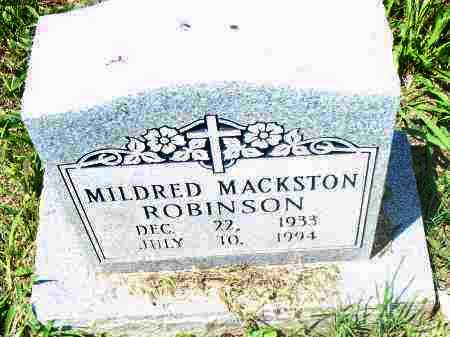 MACKSTON ROBINSON, MILDRED - Pulaski County, Arkansas | MILDRED MACKSTON ROBINSON - Arkansas Gravestone Photos