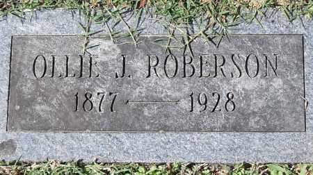 ROBINSON, OLLIE J. - Pulaski County, Arkansas | OLLIE J. ROBINSON - Arkansas Gravestone Photos