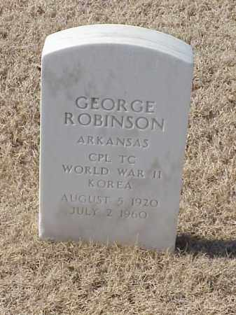 ROBINSON (VETERAN 2 WARS), GEORGE - Pulaski County, Arkansas | GEORGE ROBINSON (VETERAN 2 WARS) - Arkansas Gravestone Photos