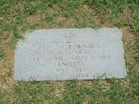 ROBINSON, JANIETTA - Pulaski County, Arkansas | JANIETTA ROBINSON - Arkansas Gravestone Photos