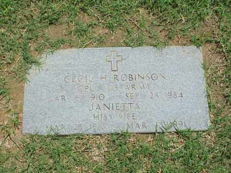 ROBINSON (VETERAN WWII), CECIL H - Pulaski County, Arkansas | CECIL H ROBINSON (VETERAN WWII) - Arkansas Gravestone Photos