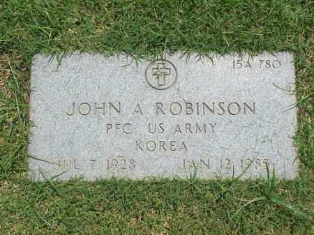 ROBINSON (VETERAN KOR), JOHN A - Pulaski County, Arkansas | JOHN A ROBINSON (VETERAN KOR) - Arkansas Gravestone Photos