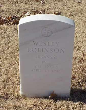 ROBINSON (VETERAN WWI), WESLEY - Pulaski County, Arkansas | WESLEY ROBINSON (VETERAN WWI) - Arkansas Gravestone Photos