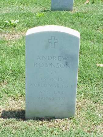 ROBINSON (VETERAN 2 WARS), ANDREW - Pulaski County, Arkansas | ANDREW ROBINSON (VETERAN 2 WARS) - Arkansas Gravestone Photos