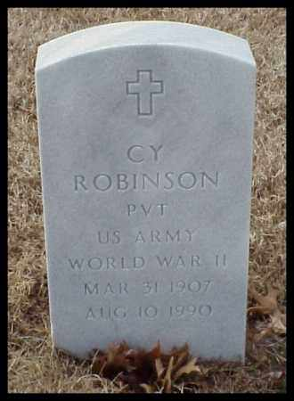 ROBINSON (VETERAN WWII), CY - Pulaski County, Arkansas | CY ROBINSON (VETERAN WWII) - Arkansas Gravestone Photos