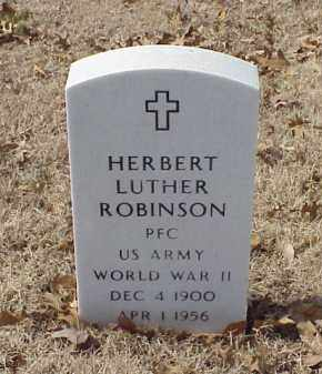 ROBINSON (VETERAN WWII), HERBERT LUTHER - Pulaski County, Arkansas | HERBERT LUTHER ROBINSON (VETERAN WWII) - Arkansas Gravestone Photos
