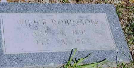 ROBINSON, WILLIE - Pulaski County, Arkansas | WILLIE ROBINSON - Arkansas Gravestone Photos