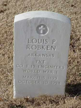 ROBKEN (VETERAN WWI), LOUIS P - Pulaski County, Arkansas | LOUIS P ROBKEN (VETERAN WWI) - Arkansas Gravestone Photos