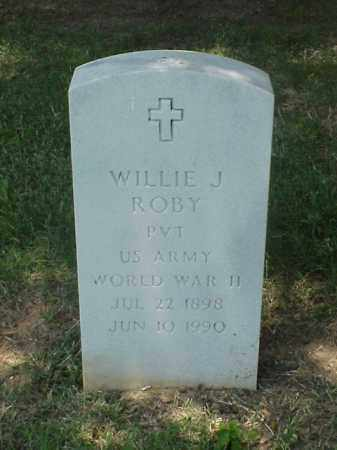 ROBY (VETERAN WWII), WILLIE J - Pulaski County, Arkansas | WILLIE J ROBY (VETERAN WWII) - Arkansas Gravestone Photos