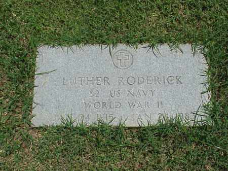 RODERICK (VETERAN WWII), LUTHER - Pulaski County, Arkansas | LUTHER RODERICK (VETERAN WWII) - Arkansas Gravestone Photos