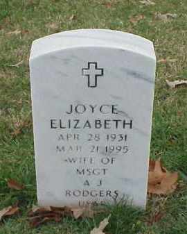 RODGERS, JOYCE ELIZABETH - Pulaski County, Arkansas | JOYCE ELIZABETH RODGERS - Arkansas Gravestone Photos