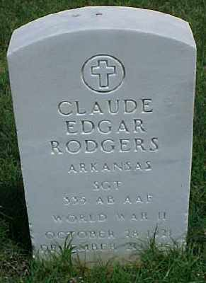 RODGERS (VETERAN WWII), CLAUDE EDGAR - Pulaski County, Arkansas | CLAUDE EDGAR RODGERS (VETERAN WWII) - Arkansas Gravestone Photos