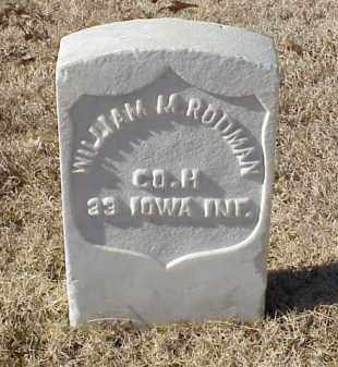 RODMAN (VETERAN UNION), WILLIAM M - Pulaski County, Arkansas | WILLIAM M RODMAN (VETERAN UNION) - Arkansas Gravestone Photos
