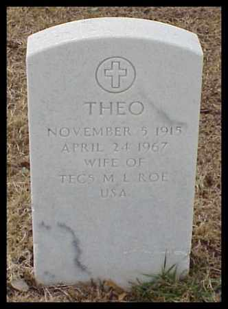 ROE, THEO - Pulaski County, Arkansas | THEO ROE - Arkansas Gravestone Photos
