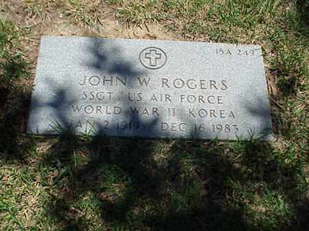 ROGERS (VETERAN 2 WARS), JOHN W - Pulaski County, Arkansas | JOHN W ROGERS (VETERAN 2 WARS) - Arkansas Gravestone Photos