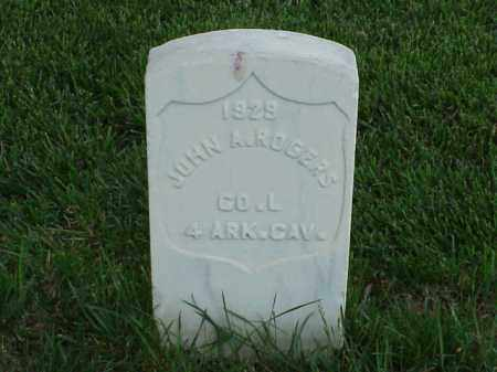 ROGERS (VETERAN UNION), JOHN A - Pulaski County, Arkansas | JOHN A ROGERS (VETERAN UNION) - Arkansas Gravestone Photos