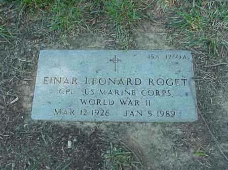 ROGET (VETERAN WWII), EINAR LEONARD - Pulaski County, Arkansas | EINAR LEONARD ROGET (VETERAN WWII) - Arkansas Gravestone Photos