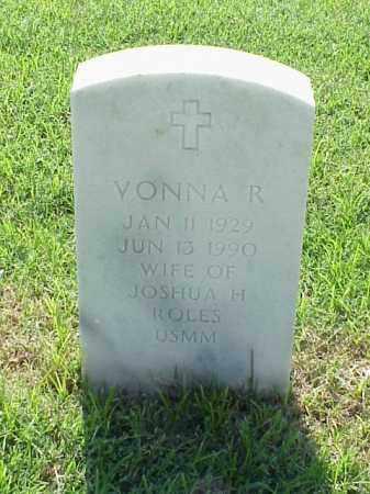 ROLES, VONNA R - Pulaski County, Arkansas | VONNA R ROLES - Arkansas Gravestone Photos