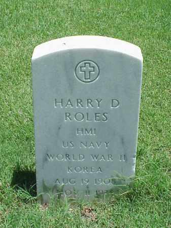 ROLES (VETERAN 2 WARS), HARRY D - Pulaski County, Arkansas | HARRY D ROLES (VETERAN 2 WARS) - Arkansas Gravestone Photos