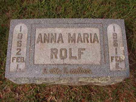ROLF, ANNA MARIA - Pulaski County, Arkansas | ANNA MARIA ROLF - Arkansas Gravestone Photos