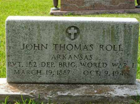 ROLL (VETERAN WWI), JOHN THOMAS - Pulaski County, Arkansas | JOHN THOMAS ROLL (VETERAN WWI) - Arkansas Gravestone Photos