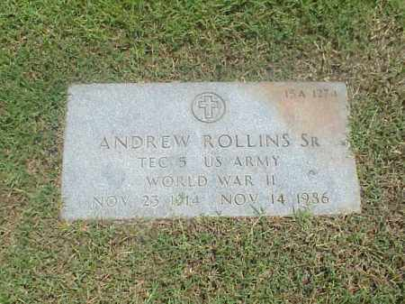 ROLLINS (VETERAN WWII), ANDREW - Pulaski County, Arkansas | ANDREW ROLLINS (VETERAN WWII) - Arkansas Gravestone Photos