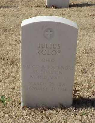 ROLOF (VETERAN WWI), JULIUS - Pulaski County, Arkansas | JULIUS ROLOF (VETERAN WWI) - Arkansas Gravestone Photos