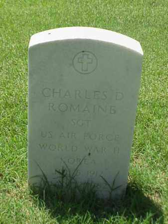 ROMAINE (VETERAN 3 WARS), CHARLES D - Pulaski County, Arkansas | CHARLES D ROMAINE (VETERAN 3 WARS) - Arkansas Gravestone Photos