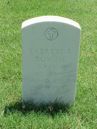 ROMINE (VETERAN WWII), EVERETT L - Pulaski County, Arkansas | EVERETT L ROMINE (VETERAN WWII) - Arkansas Gravestone Photos
