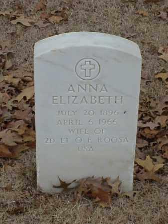 ROOSA, ANNA ELIZABETH - Pulaski County, Arkansas | ANNA ELIZABETH ROOSA - Arkansas Gravestone Photos