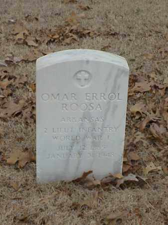 ROOSA (VETERAN WWI), OMAR ERROL - Pulaski County, Arkansas | OMAR ERROL ROOSA (VETERAN WWI) - Arkansas Gravestone Photos
