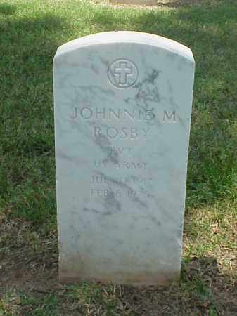 ROSBY (VETERAN WWII), JOHNNIE M - Pulaski County, Arkansas | JOHNNIE M ROSBY (VETERAN WWII) - Arkansas Gravestone Photos