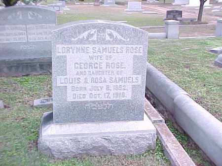 SAMUELS ROSE, LORYNNE - Pulaski County, Arkansas | LORYNNE SAMUELS ROSE - Arkansas Gravestone Photos