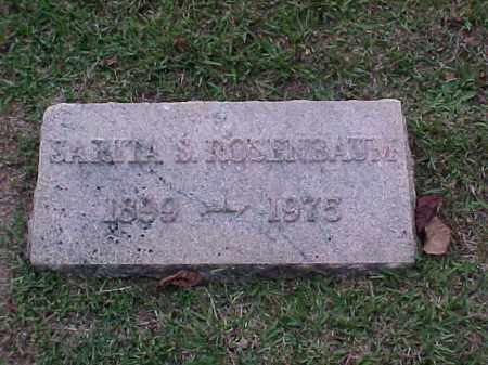 ROSENBAUM, SARITA S - Pulaski County, Arkansas | SARITA S ROSENBAUM - Arkansas Gravestone Photos