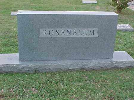 ROSENBLUM FAMILY STONE,  - Pulaski County, Arkansas |  ROSENBLUM FAMILY STONE - Arkansas Gravestone Photos