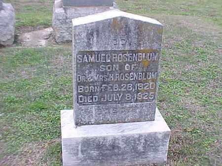 ROSENBLUM, SAMUEL - Pulaski County, Arkansas | SAMUEL ROSENBLUM - Arkansas Gravestone Photos