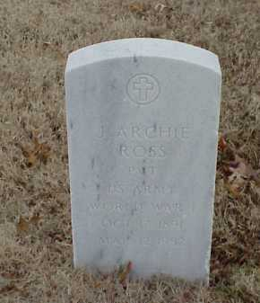 ROSS  (VETERAN WWI), J ARCHIE - Pulaski County, Arkansas | J ARCHIE ROSS  (VETERAN WWI) - Arkansas Gravestone Photos