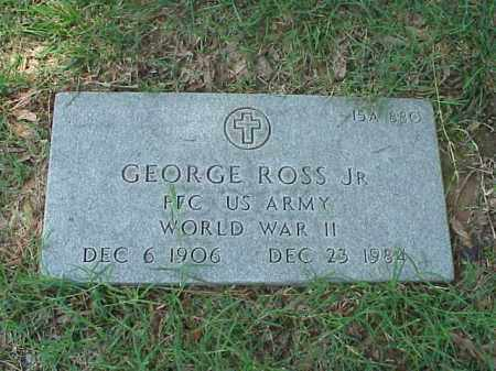 ROSS, JR (VETERAN WWII), GEORGE - Pulaski County, Arkansas | GEORGE ROSS, JR (VETERAN WWII) - Arkansas Gravestone Photos