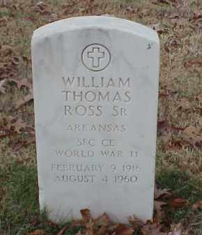 ROSS, SR (VETERAN 2 WARS), WILLIAM THOMAS - Pulaski County, Arkansas | WILLIAM THOMAS ROSS, SR (VETERAN 2 WARS) - Arkansas Gravestone Photos