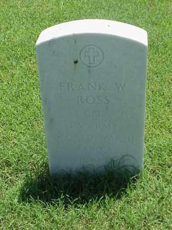 ROSS (VETERAN 2 WARS), FRANK W - Pulaski County, Arkansas | FRANK W ROSS (VETERAN 2 WARS) - Arkansas Gravestone Photos