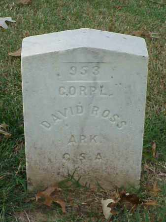 ROSS (VETERAN CSA), DAVID - Pulaski County, Arkansas | DAVID ROSS (VETERAN CSA) - Arkansas Gravestone Photos