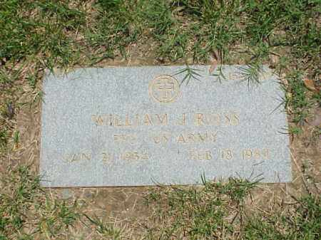 ROSS (VETERAN), WILLIAM J - Pulaski County, Arkansas | WILLIAM J ROSS (VETERAN) - Arkansas Gravestone Photos