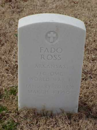 ROSS (VETERAN WWI), FADO - Pulaski County, Arkansas | FADO ROSS (VETERAN WWI) - Arkansas Gravestone Photos