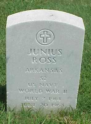 ROSS (VETERAN WWII), JUNIUS - Pulaski County, Arkansas | JUNIUS ROSS (VETERAN WWII) - Arkansas Gravestone Photos